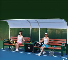 网球场休闲椅